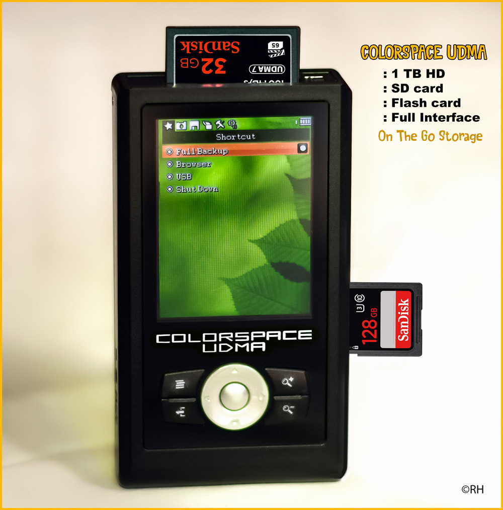 UDMA Colorspace 1TB on the go storage back-up for SD & Flash cards