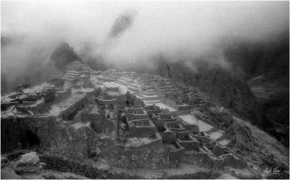 Machu Picchu taken in infra-red roll film