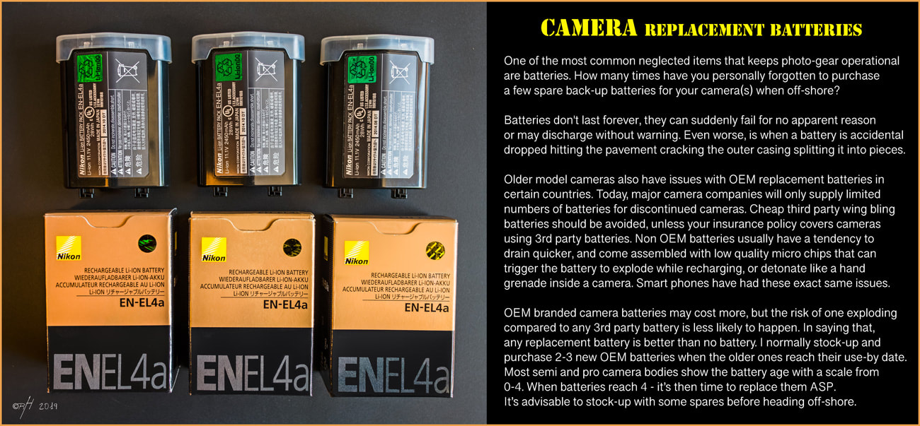 Nikon EN_EL4a OEM replacement batteries for the D3-D3S-D3X