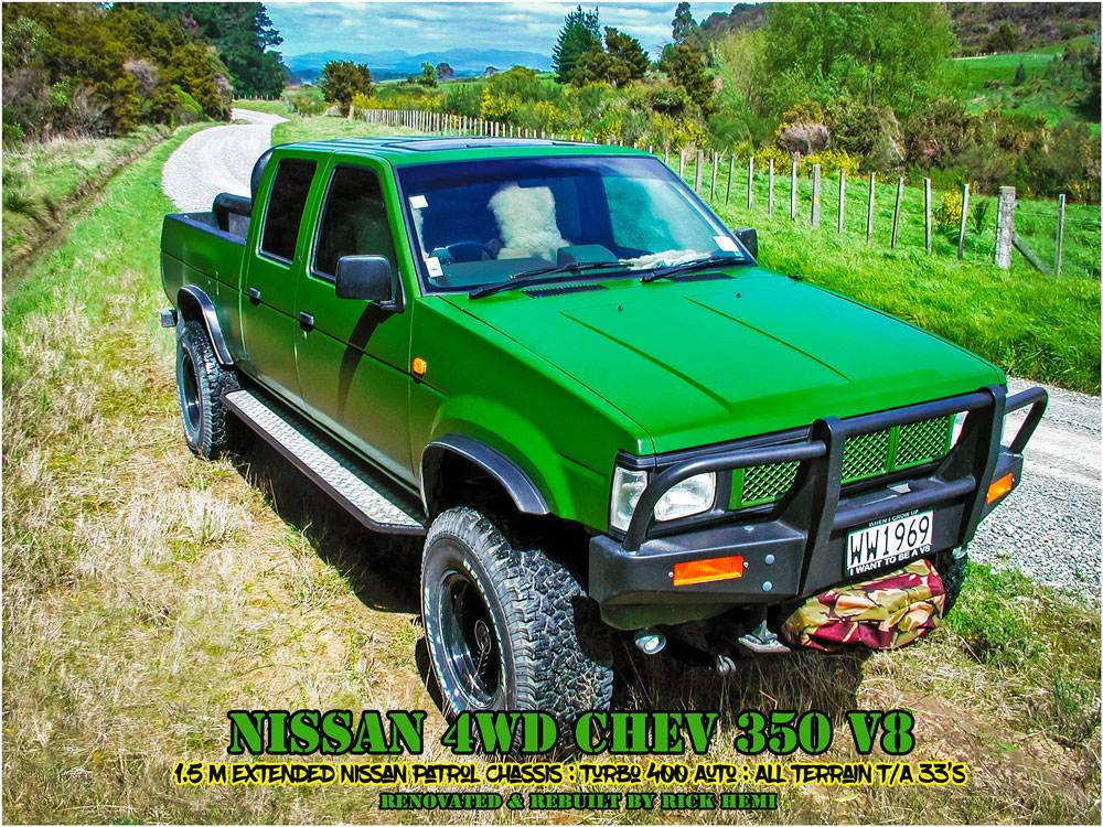 Who's Rick Hemi - Nissan custom Chev V8 powered 4WD