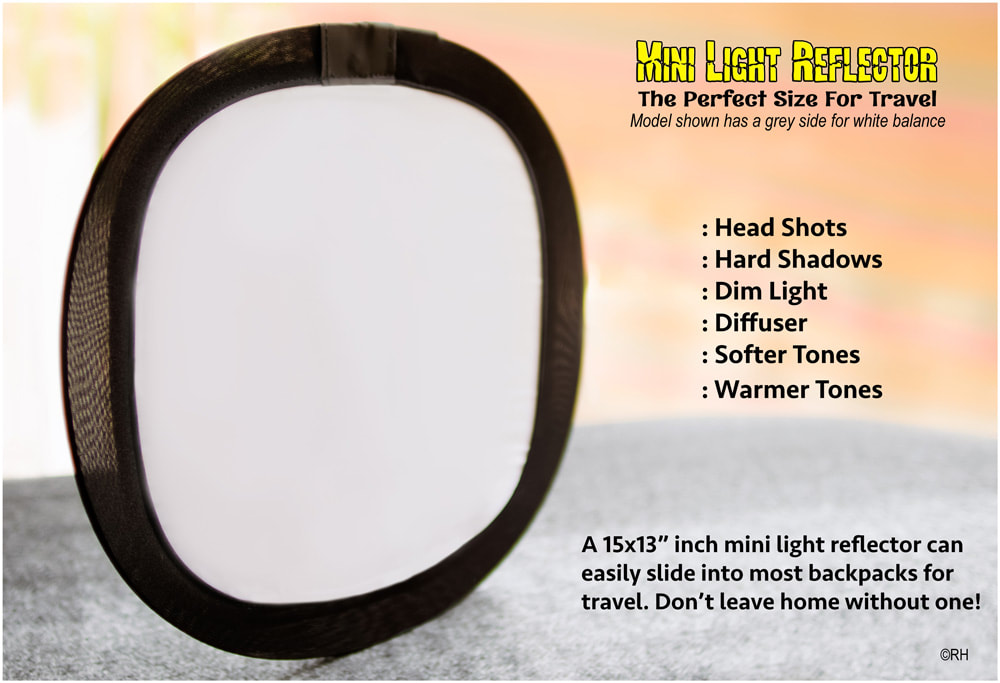 solo travel mini photographic light reflector for Africa Asia South america