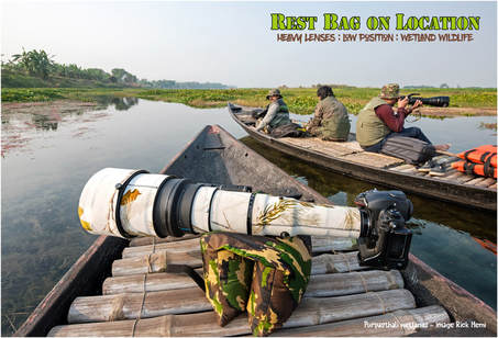 Nikon-Nikkor-800mm-f/5.6-ED-IF-lens & Rest-Bag-on-location