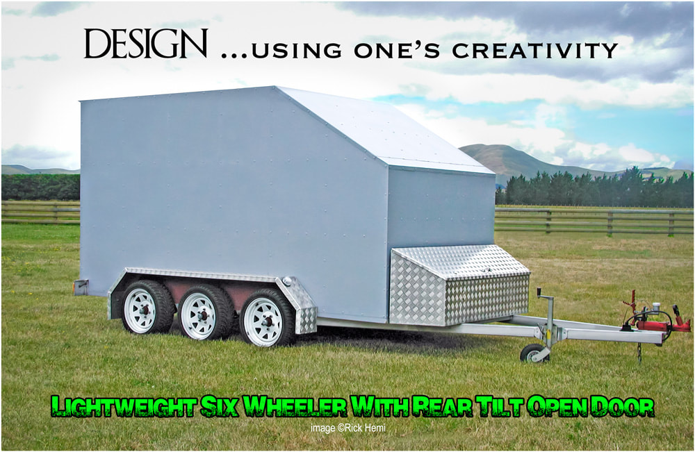 design and creativity - we all have it, 6 wheeler full rear tilt door lightweight trailer for moving stuff