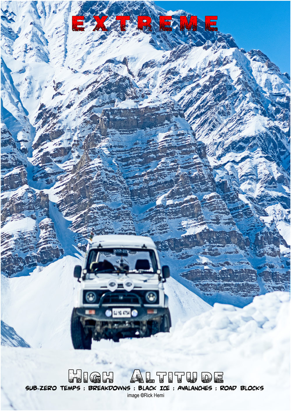 overland travel self-driving above 3500 metres in mid-winter sub-zero conditions, Himalaya, Andes,