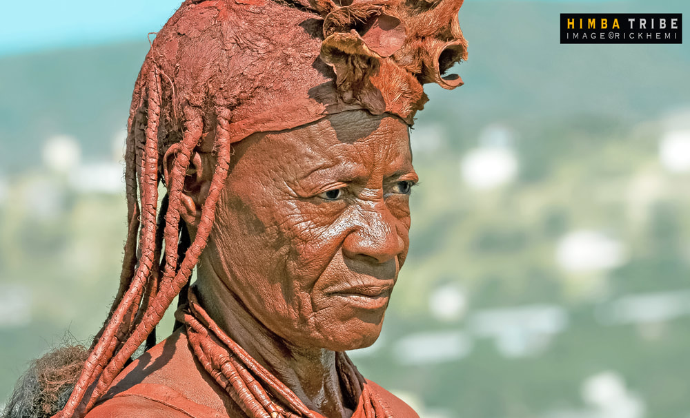 Africa solo travel overland, Himba tribal image by Rick Hemi