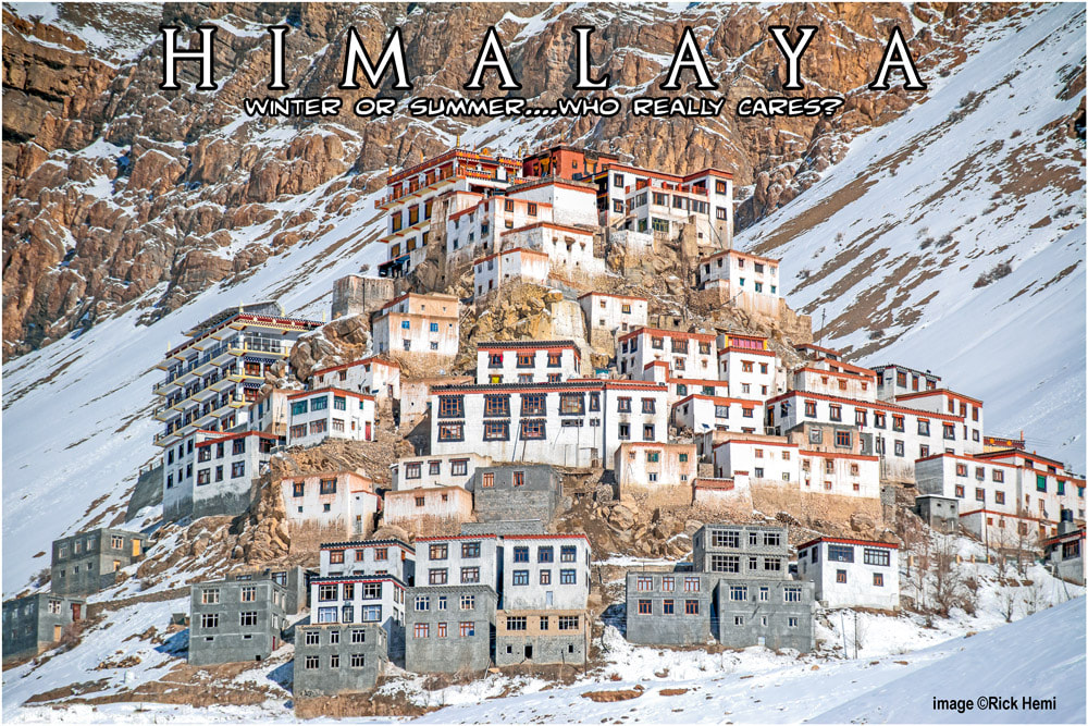 solo overland travel through Asia, Himalaya mid-winter total isolation