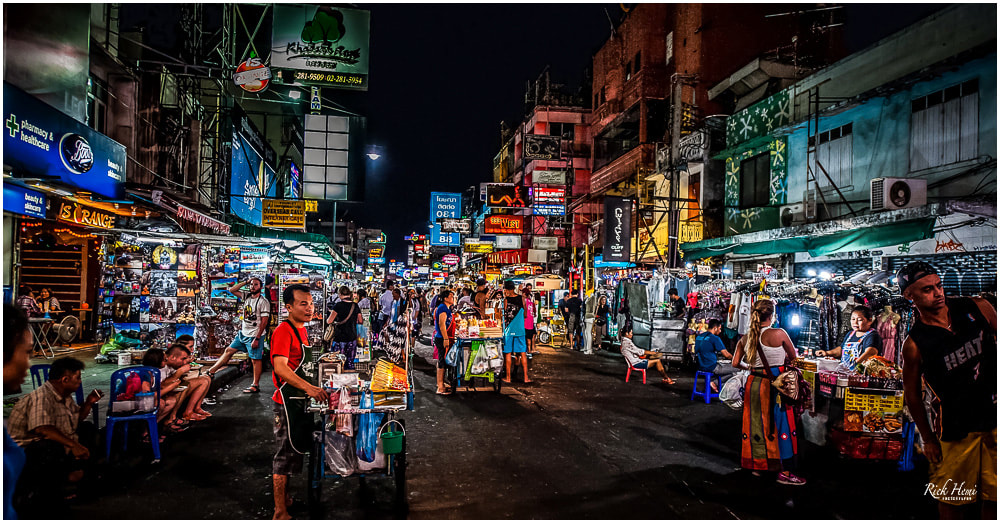 Khao San Road Bangkok - a bustling tourist ghetto that began in the 1980's