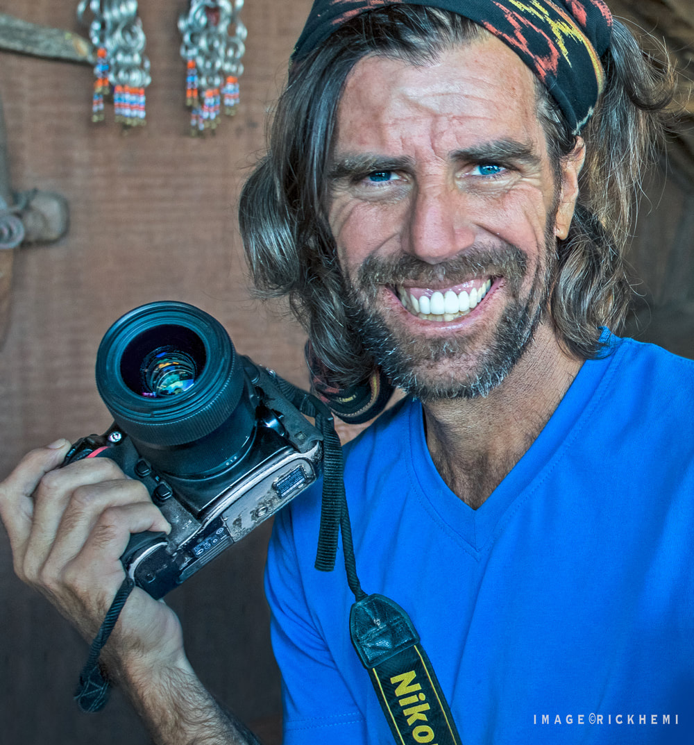 solo overland travel street photographer, worn out scruffy Nikon D800, Africa, Asia, South America, image by rick hemi