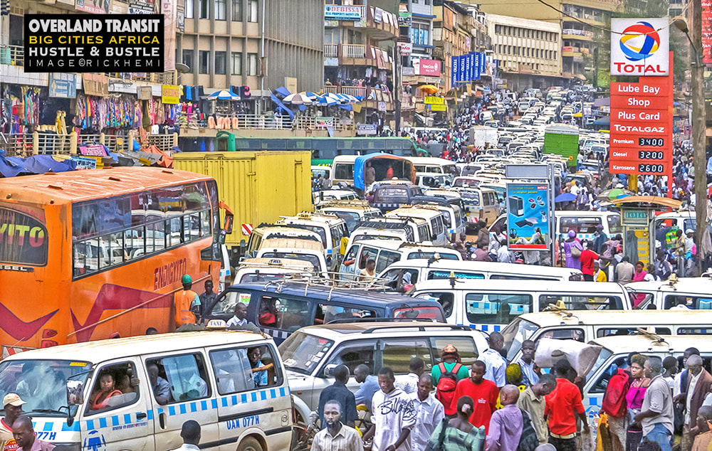 solo travel big cities Africa, street hustle and bustle Africa, image by Rick Hemi