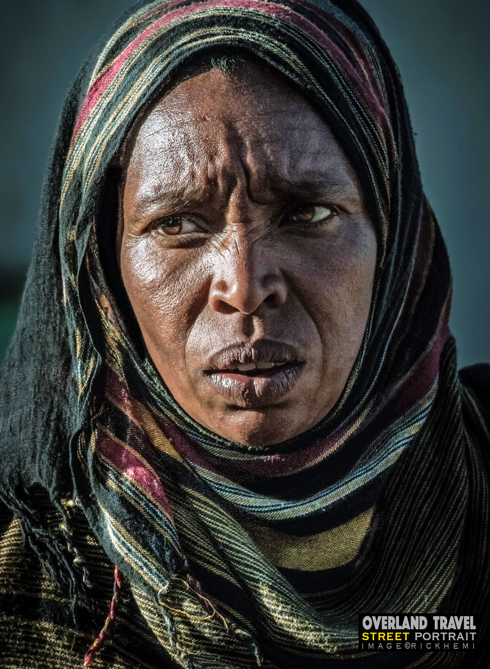 overland travel and transit Africa, street snap portrait by Rick Hemi