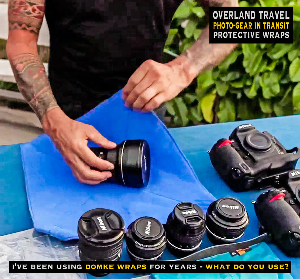 overland travel and transit photo-gear protection, domke wraps USA