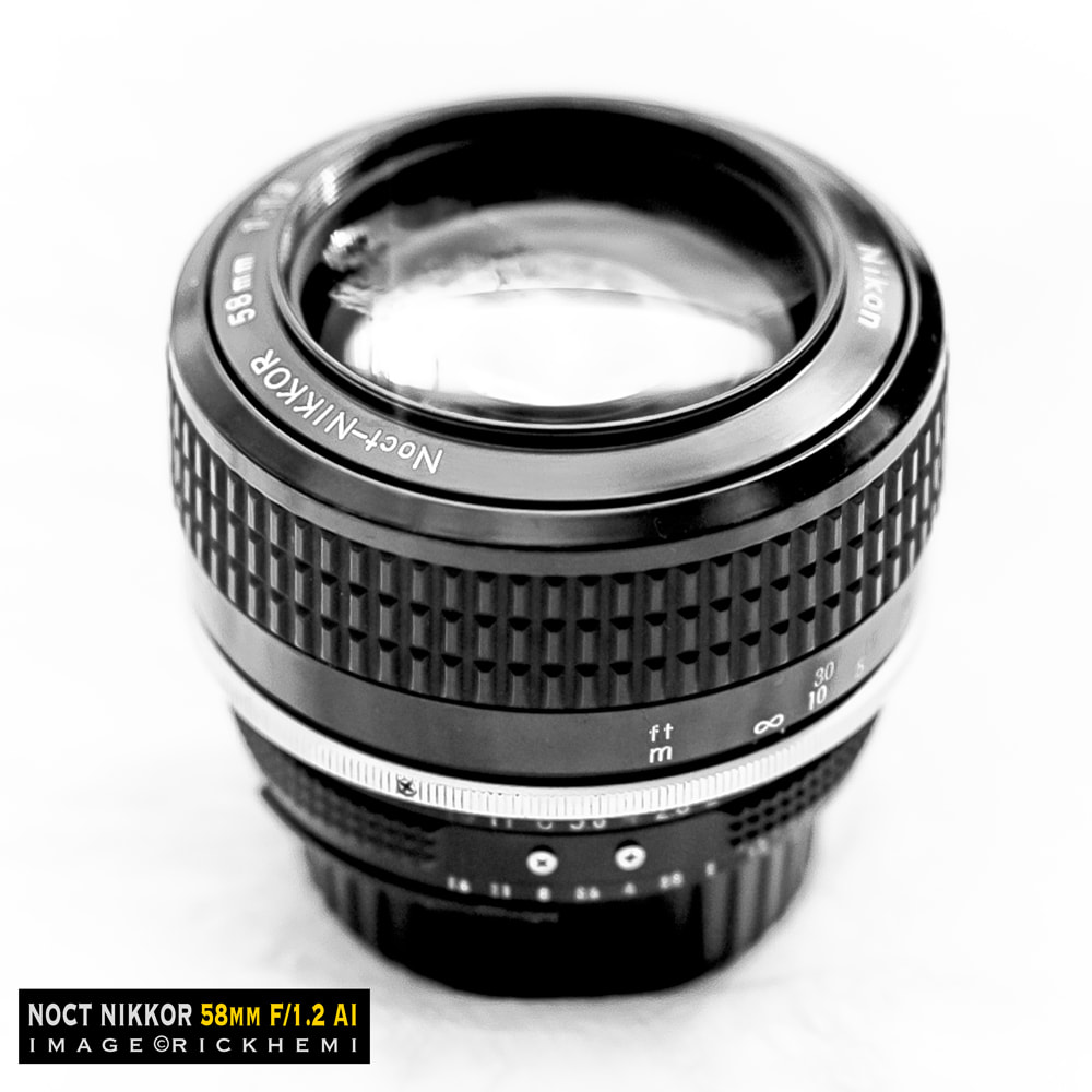 overland travel photo-gear, classic Nikon Noct Nikkor 58mm f/1.2 AI lens, image by rick hemi