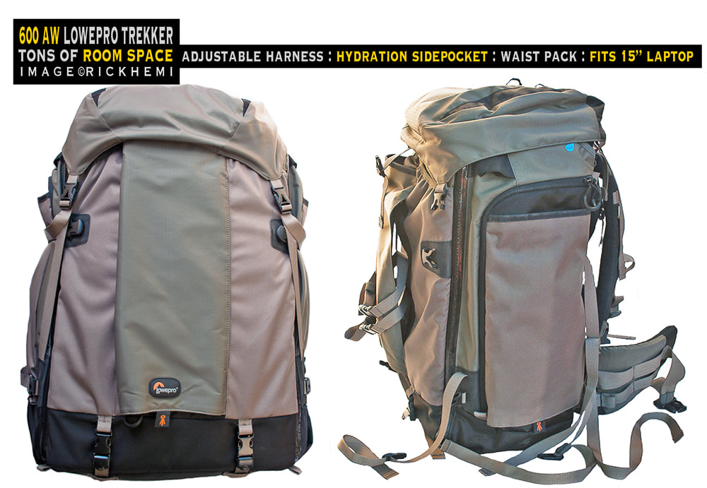 overland travel camera-gear, AW600 Lowpro Trekker backpack, image by rick hemi