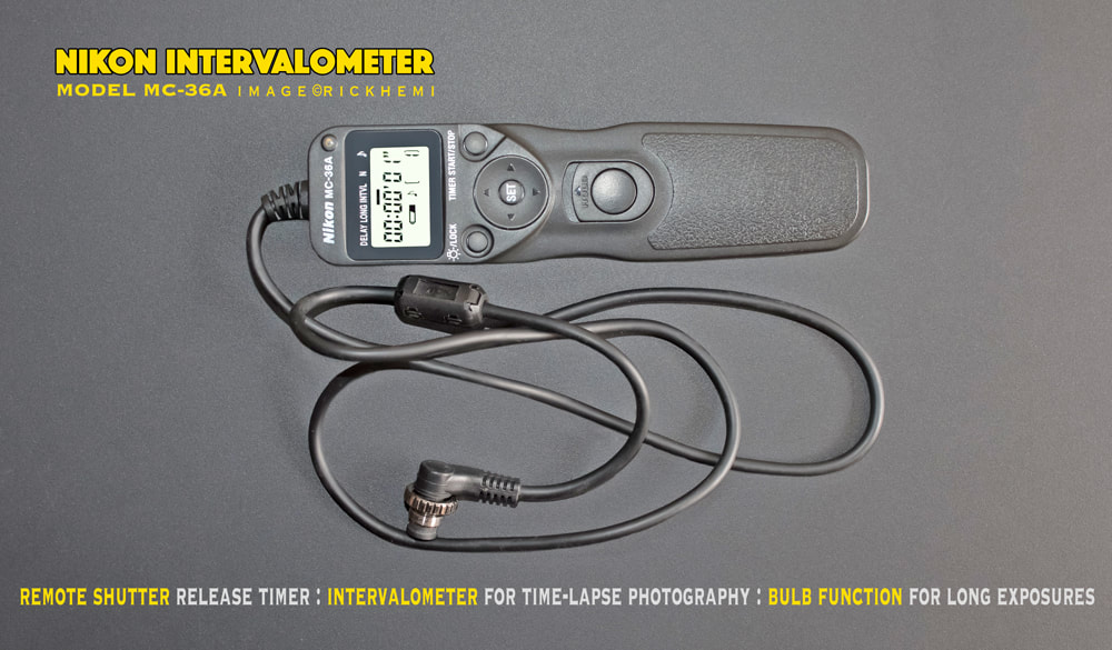 overland travel photo-gear & stuff, Nikon MC-36A Intervalometer 10 pin remote shutter release timer, Nikon MC-36a 10 pin shutter release,Time-Lapse remote shutter, image by Rick Hemi