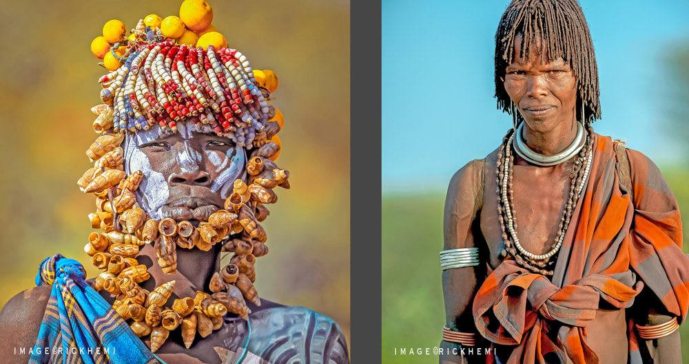 overland travel and transit tribal lands Africa, images by Rick Hemi
