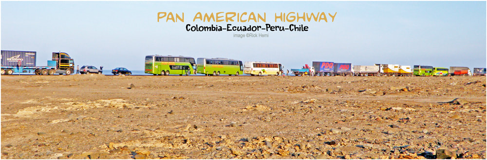 Pan American Highway-Colombia-Ecuador-Peru-Chile, Overland travel South America