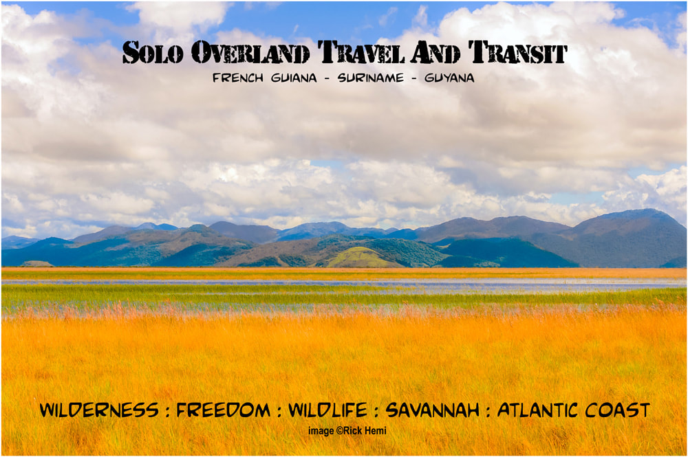 solo-overland-travel-and-transit-French-Guiana-Surinam-Guyana, wildlife, flora and fauna, fishing, hiking, free camping