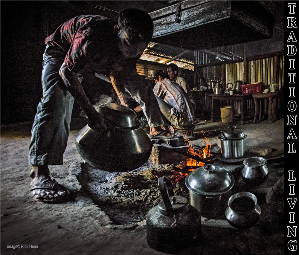 solo travel overland through Asia, hidden traditional mud floor kitchens