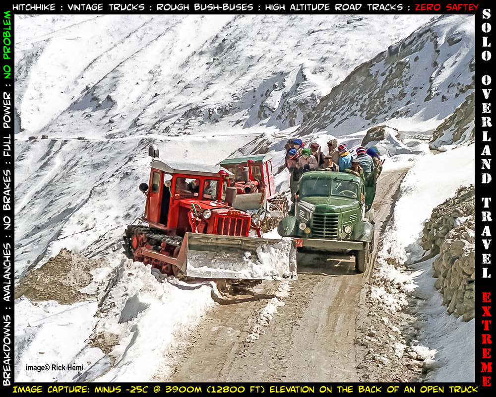 snow track in Tibet, Nepal to Tibet winter, solo travel rough track mid-winter high altitude Tibet