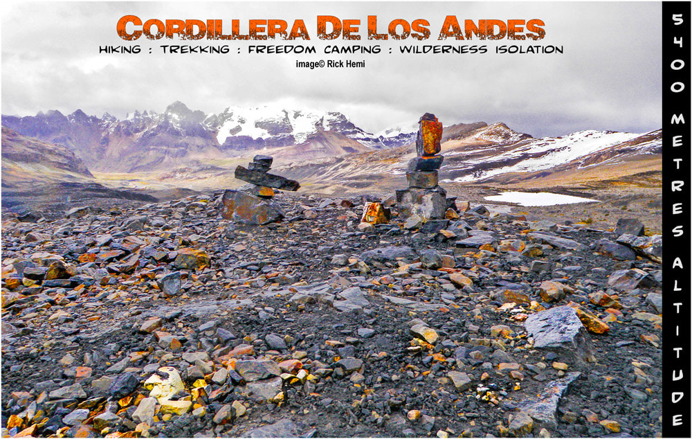 south America solo overland travel, hiking in the Andes