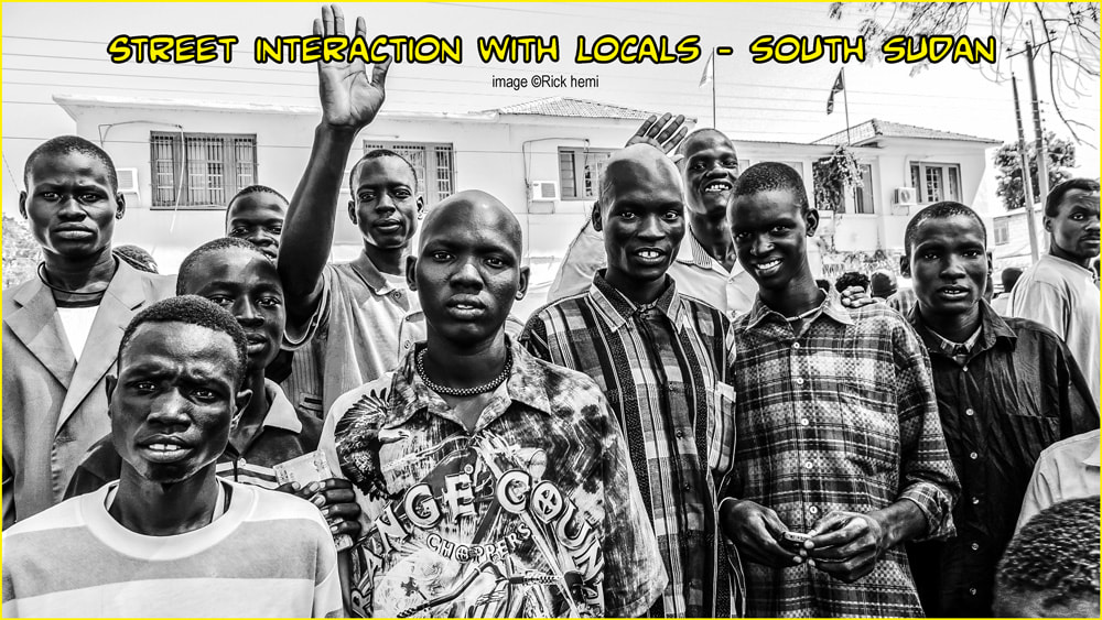 solo overland travel-street interaction South Sudan