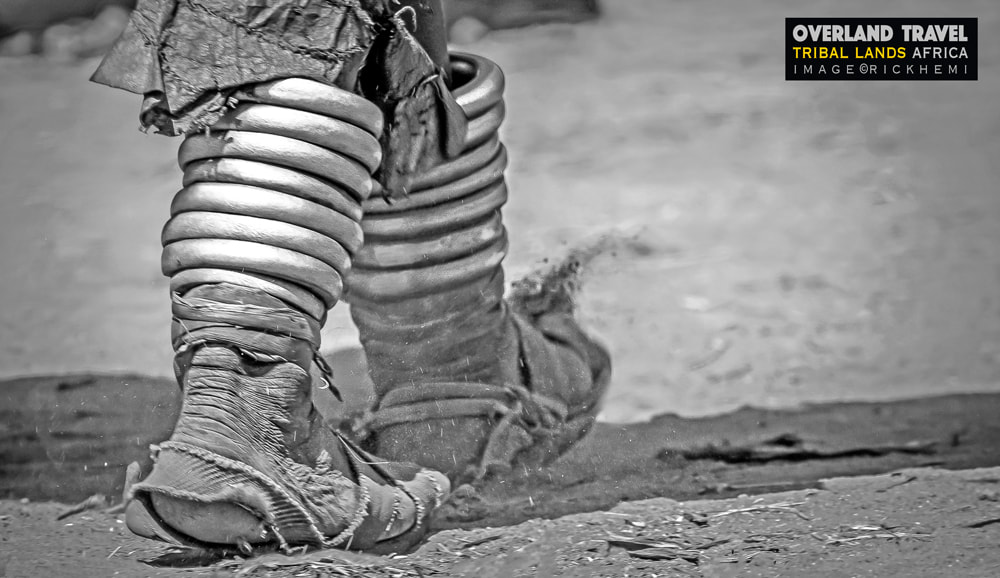 solo travel overland Africa, tribal lands, anklets image by Rick Hemi
